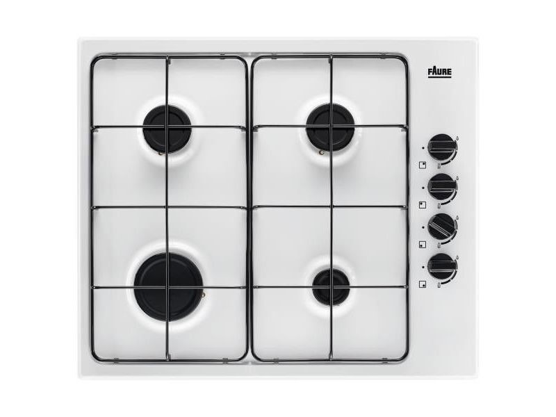 Table de cuisson gaz 59cm 4 feux 78300w blanc - fgh62414wa fgh62414wa