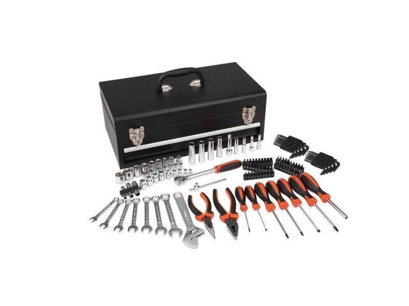 Manupro caisse a outils mecaniques auto - 129 outils et accessoires