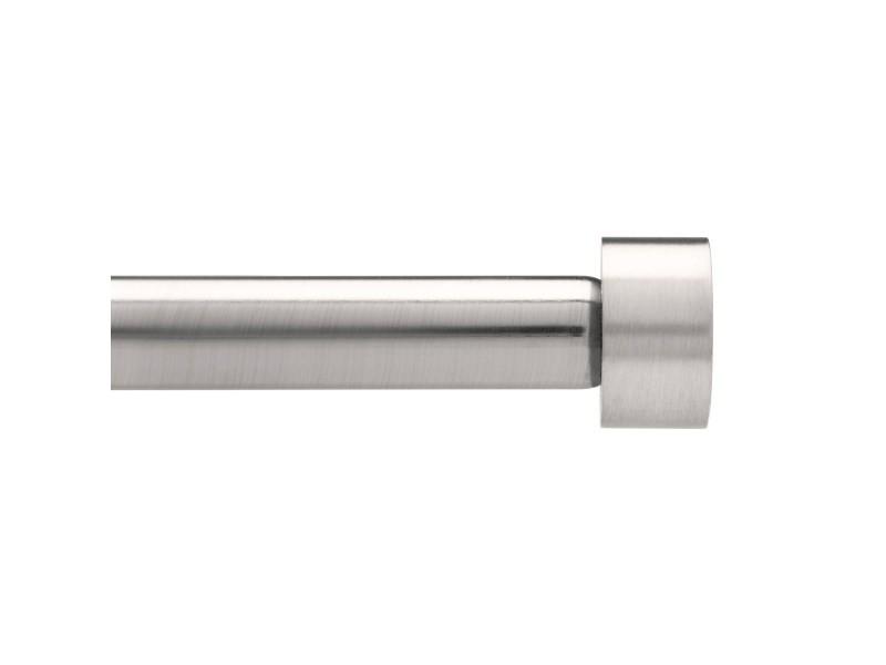 Kit 1 tringle à rideaux extensible 183 à 366cm en nickel