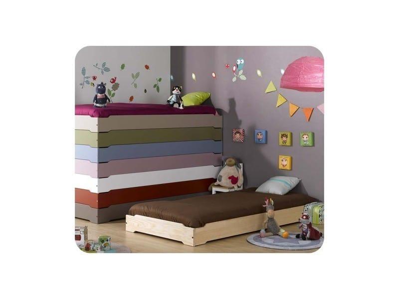 Lit enfant empilable 90x190 cm avec sommier vente de ma chambre d 39 enfant conforama - Lit enfant avec sommier ...