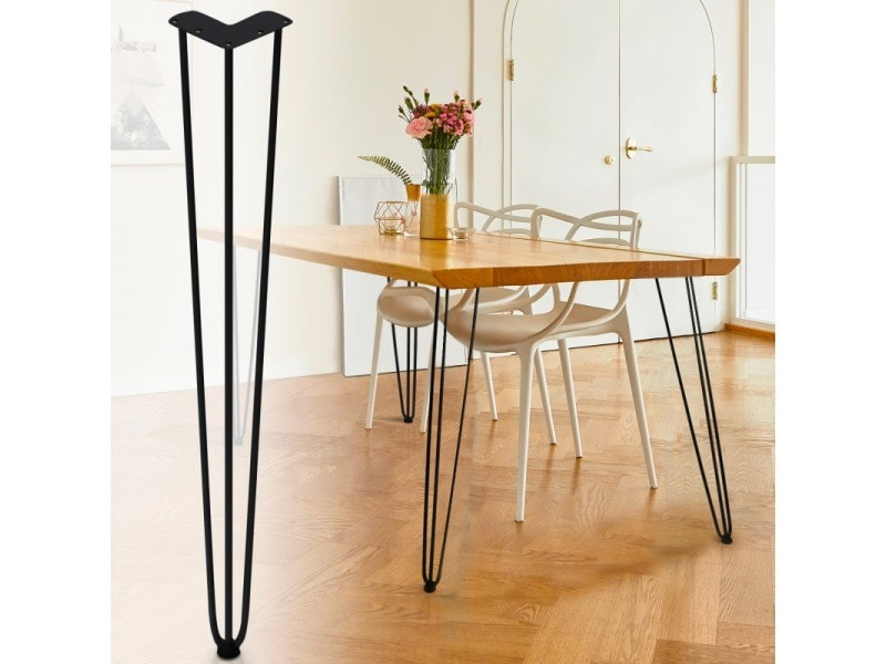 Lot de 4 pieds épingle 71 cm pour table design industriel
