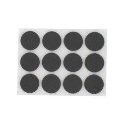 Pvm - patin feutre marron adhésif rond ø 25 mm - lot de 9