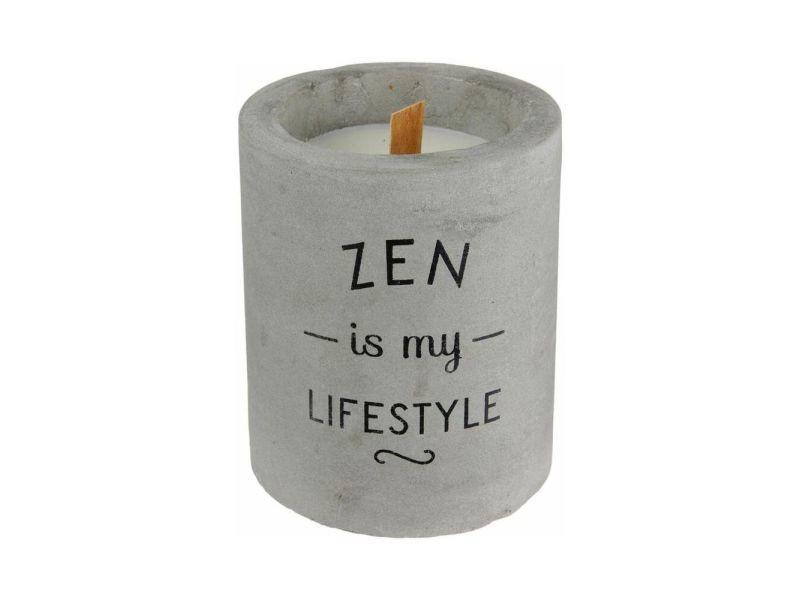 Bougie senteur linge frais pot en ciment zen is my lifestyle
