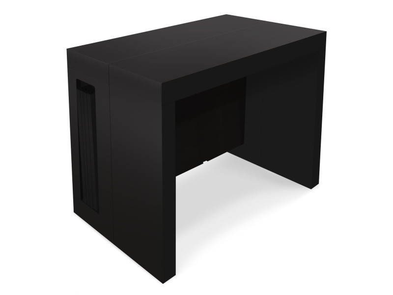 Table console extensible chay noir mat