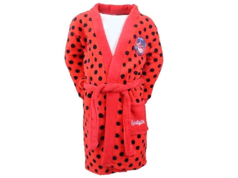 Peignoir Miraculous Ladybug 6 Ans Robe De Chambre Enfant Rouge