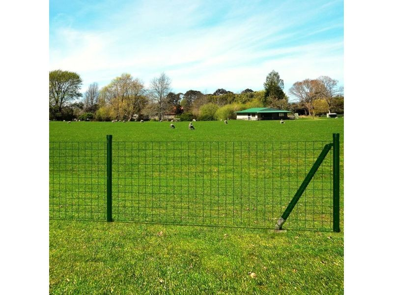 Magnifique clôtures et barrières ensemble port-louis grillage 25 x 1,0 m avec les support pour jambe de force à enfoncer