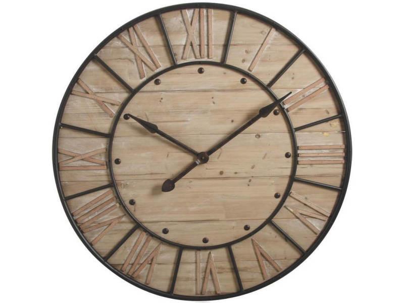 Horloge en bois et métal industrie