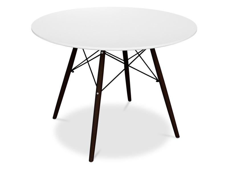 Table dsw piètement foncé charles eames - style - bois blanc