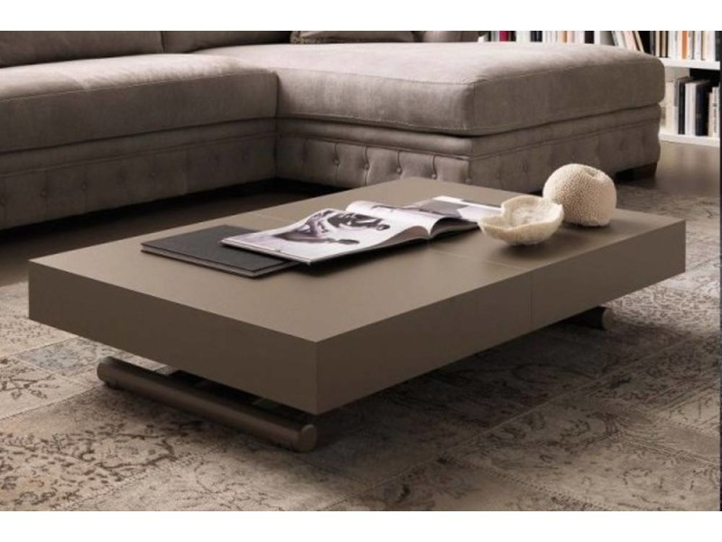 table basse relevable extensible block design taupe 20100850845 conforama. Black Bedroom Furniture Sets. Home Design Ideas