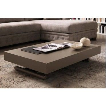 table basse relevable extensible block design taupe. Black Bedroom Furniture Sets. Home Design Ideas