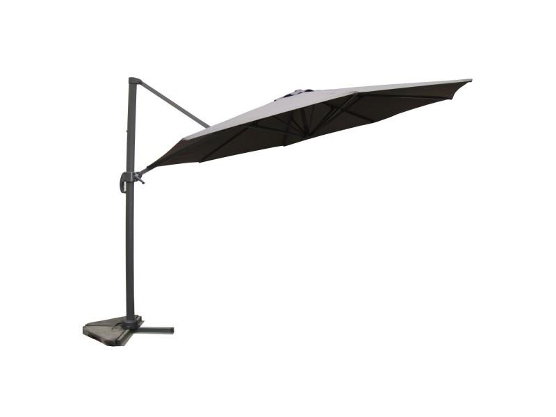 Vivaro gris: parasol déporté ,rond ø 350cm ,rotatif à 360° 35591