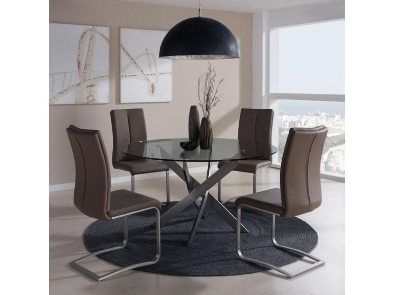 Table de repas ronde 120 cm - norman - l 120 x l 120 x h 76 - neuf