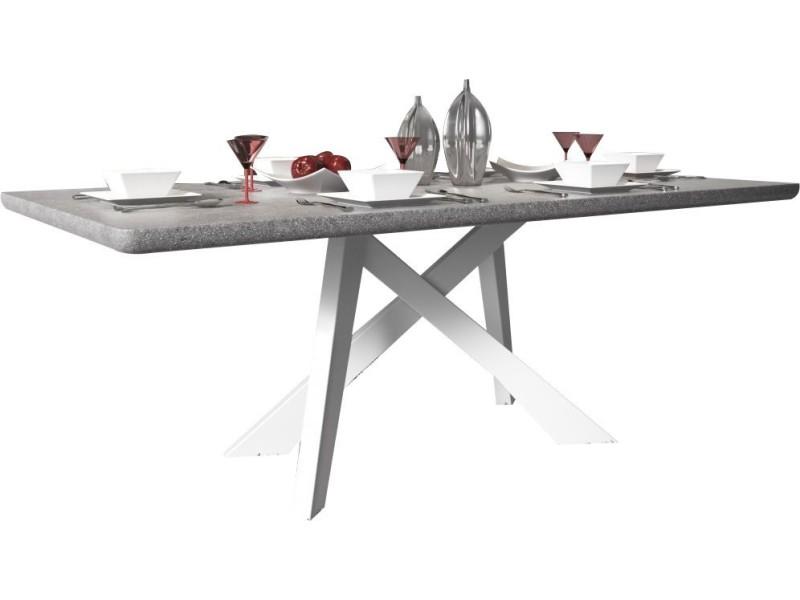Latest table design x cm coloris gris marbre avec pieds - Table marbre conforama ...