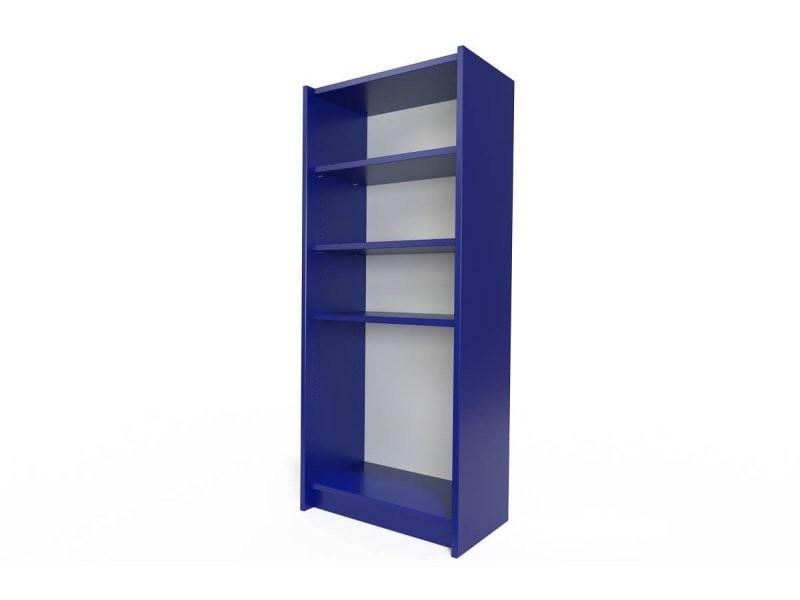 Étagère bibliothèque bois bleu foncé ETABIB-DF