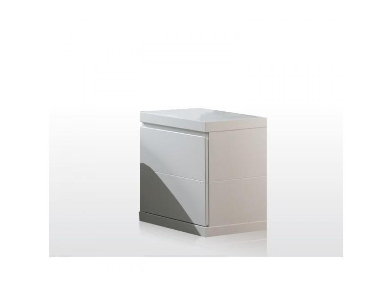 Chevet 1 porte blanc laqué ch2007