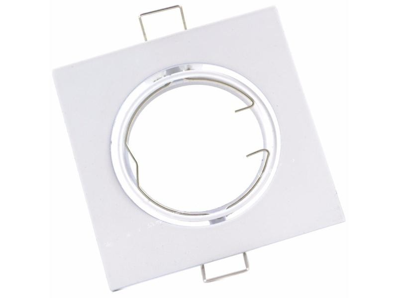 Support spot encastrable gu10 led orientable carré blanc - blanc - silamp