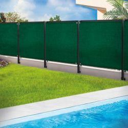 Brise vue renforcé 1 x 5 m vert 220 gr/m² luxe pro