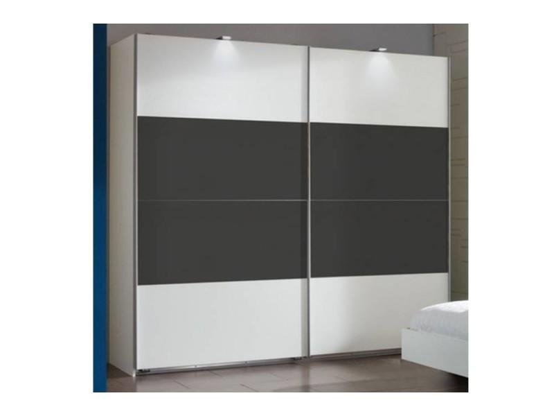Dressing thalia à portes coulissantes coloris anthracite et blanc 20100866219