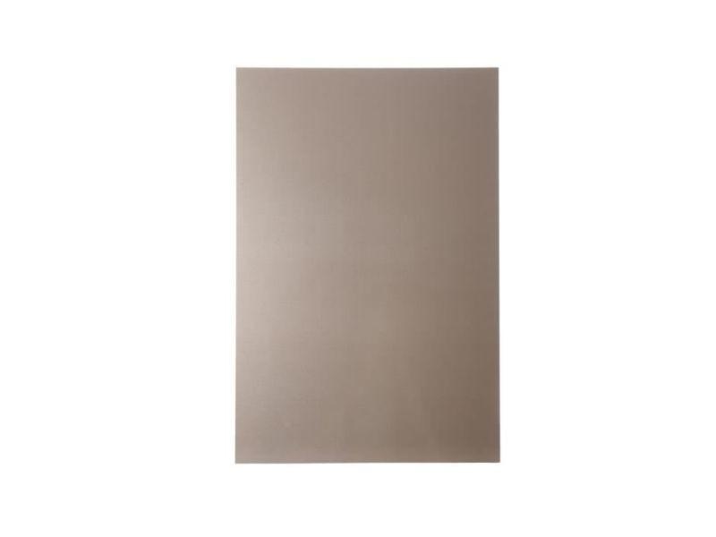 Credence - accessoire credence - fond de hotte plaque composite - aluminium - 80 x 120 cm 3/0,15 mm - champagne
