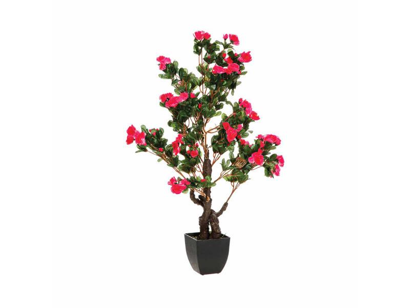 Azalée artificielle en pot - h. 81 cm - rose