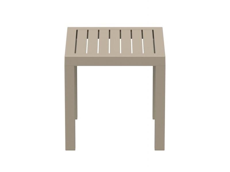 Petite table de jardin en plastique taupe résistante aux ...
