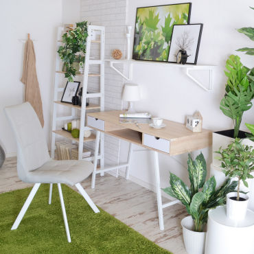 bureau scandinave bureau design gavle 120 cm effet ch ne blanc mat avec tiroirs. Black Bedroom Furniture Sets. Home Design Ideas