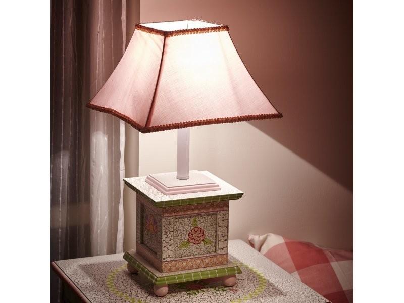 Lampe enfant cracked rose chevet bureau veilleuse chambre bébé fille