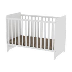 Lit bébé évolutif à barreaux sweet dream blanc + matelas