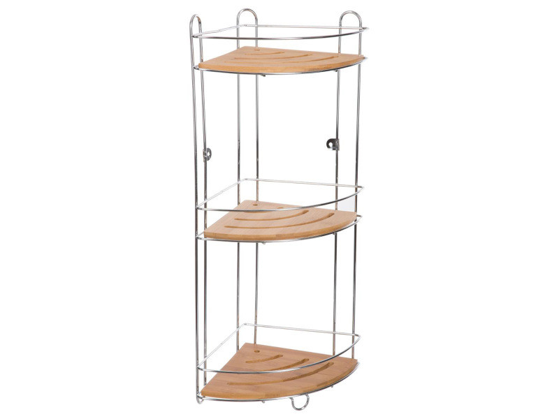 etag re d 39 angle m tal et bambou 3 niveaux vente de. Black Bedroom Furniture Sets. Home Design Ideas