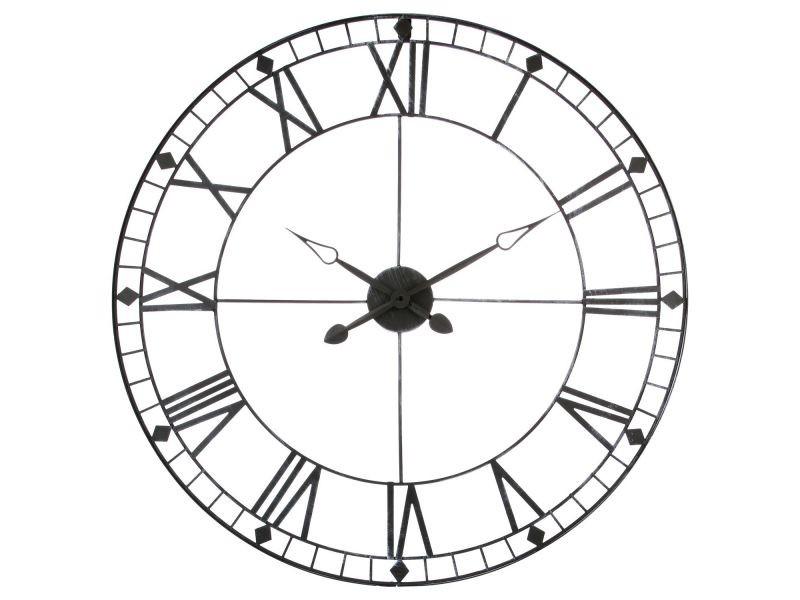 Pendule Vintage Diam 88 Cm Metal Vente De Horloge Conforama