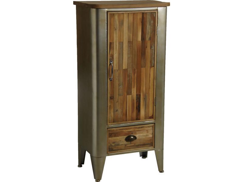 Armoire en bois et métal
