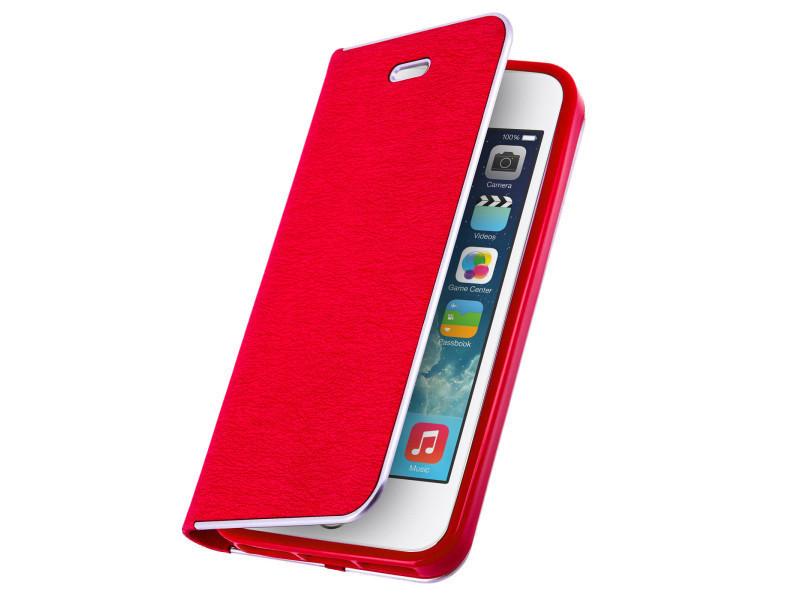 Etui iphone se, 5 et 5s housse portefeuille vintage rouge - Vente de  Accessoires téléphone - Conforama 2db427ec8b1