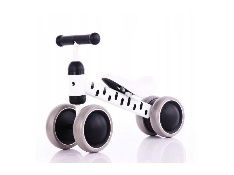 Okie - draisienne bébé enfant à partir 18 mois - ultra lègere 2kg - vélo sans pédales - ergonomique confortable selle/roues mousse - blanc/nor
