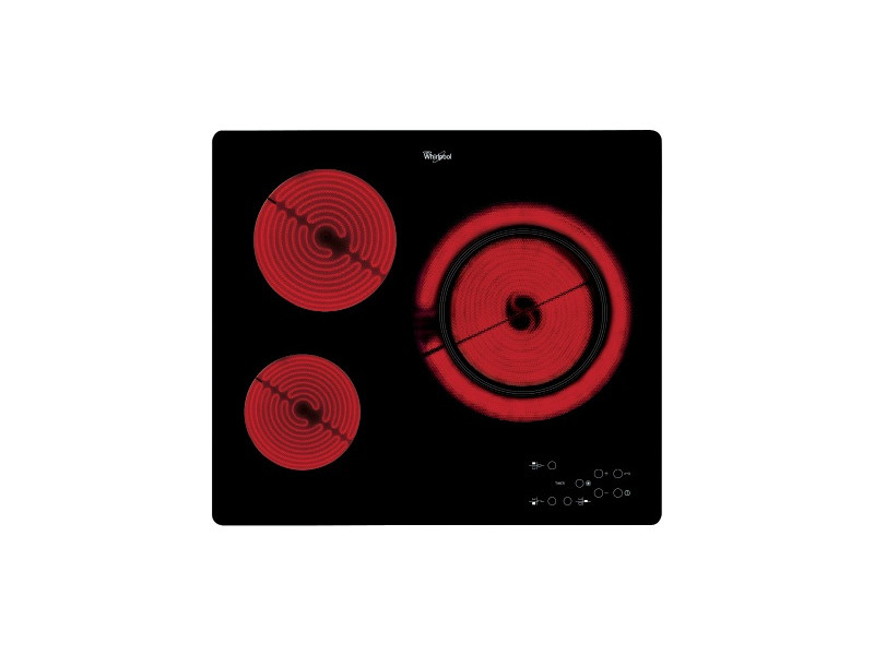 Whirlpool akt 807/bf plaque noir intégré (placement) céramique 3 zone(s) AKT807BF