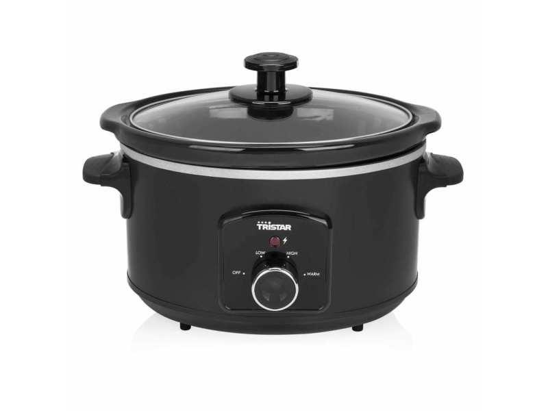 Esthetique cuiseurs et cuiseurs vapeur serie abuja tristar mijoteuse 180 w 3,5 l noir