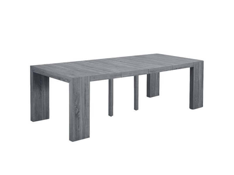 table console oxalys xl bois vintage conforama. Black Bedroom Furniture Sets. Home Design Ideas