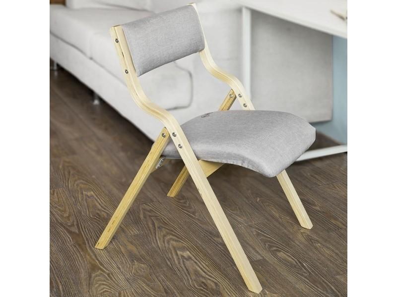 Chaise Pliante En Bois Avec Assise Rembourree Chaise Pliable Pour