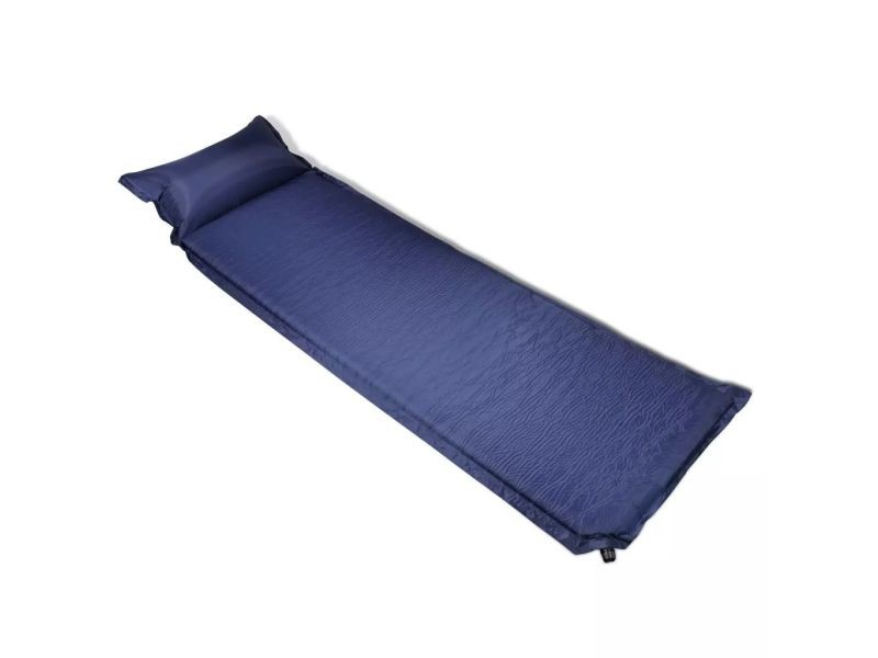 Contemporain camping et randonnée reference alofi matelas auto-gonflant avec oreiller 6 x 66 x 200 cm bleu