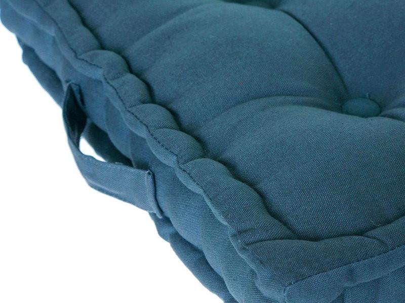 Coussin de Sol Bleu Canard 40X40 Atmosphera