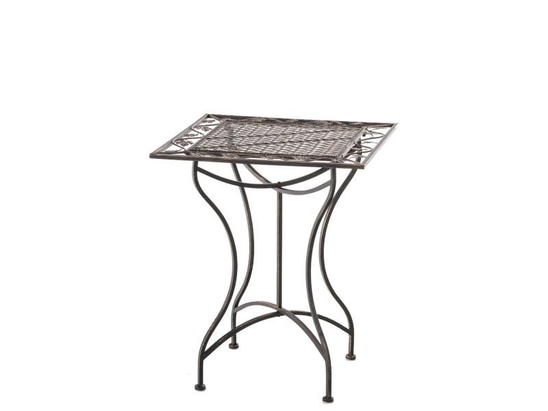 Table de jardin en fer forgé asina 60 x 60 cm , bronze