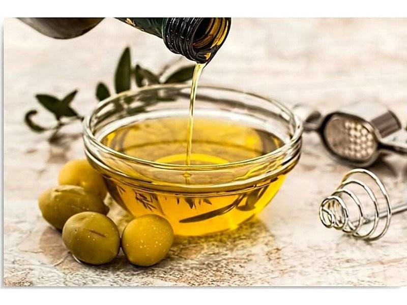Tableau bois l'huile d'olive et les olives DPA/1-TYK/M_30772/50x40
