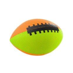 Ballon rugby gonflable orange/vert 18cm
