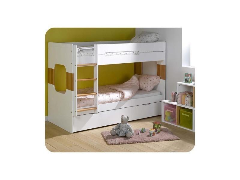 pack lit superpos enfant spark 90x200 avec 2 matelas vente de ma chambre d 39 enfant conforama. Black Bedroom Furniture Sets. Home Design Ideas