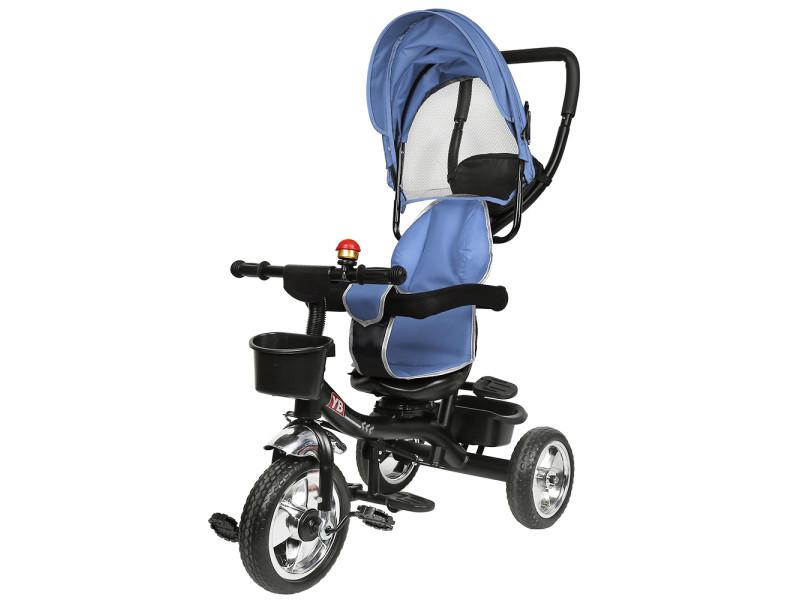 Hombuy gris tricycle enfant tricycle bébé mixte -tricycle évolutif- poussette évolutive - de 1 à 5 ans - bleu foncé