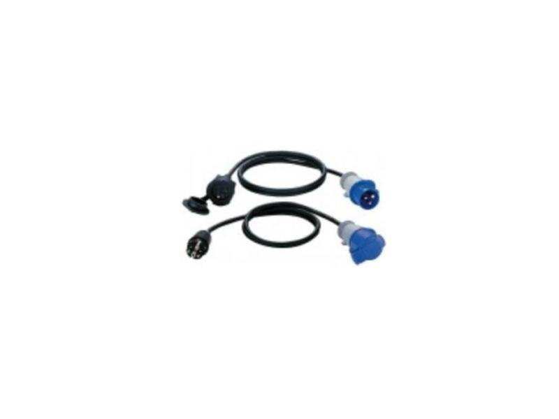 Fiche electrique adaptateur 1,5m h07rn-f 3g1.5 fiche p17 prolongateur 2p+t 16a/230v