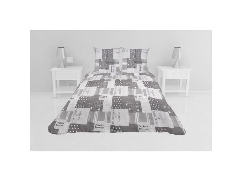 Couvre-lit boutis matelassé corinne - 220 x 240 cm - gris taupe
