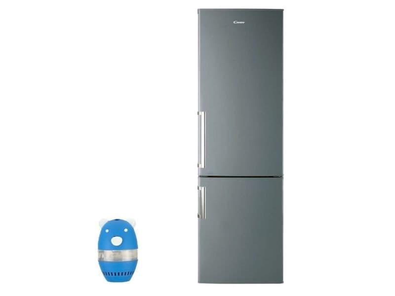 Réfrigérateur frigo combiné inox 305l a+ froid brassé finition épurée