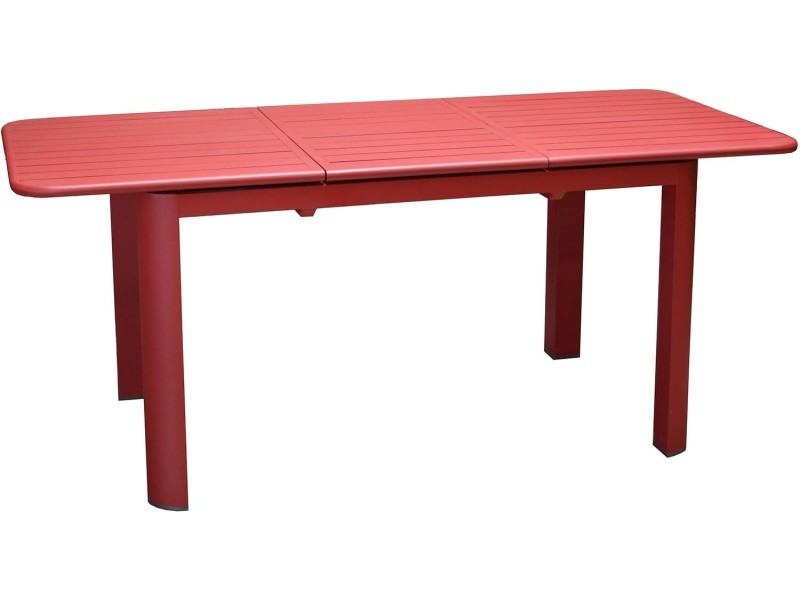 Table en aluminium avec allonge eos 130-180 cm