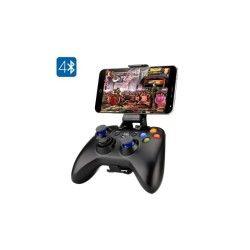 Manette bluetooth game pad pour ps3 smartphone 2 sticks analogiques 8 boutons d'action batterie 400mah