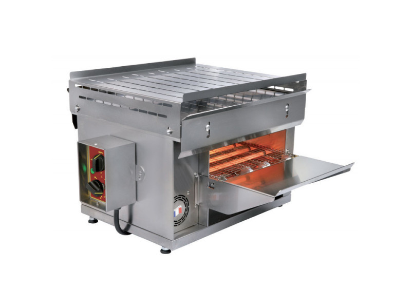 Toaster convoyeur inox cuisson infra-rouge - 3 kw -